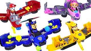 Dinosaurs attack Super Wings! Paw Patrol Flip & Fly 2-in-1 Transforming Vehicle! - DuDuPopTOY