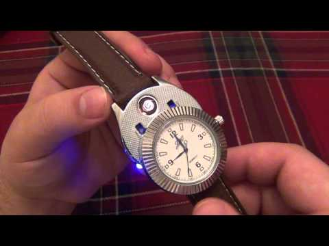 BADA$$ Watch With Electric Lighter Hidden Inside + Electric Lighter For Your