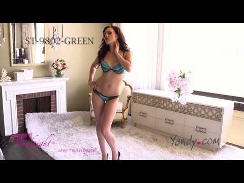 Green With Envy Lace Bra And Panty Set St 9802 Green Fh2013 video