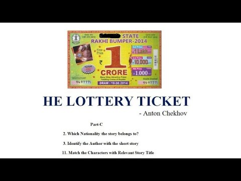 the lottery ticket by anton chekhov Read the lottery ticket by anton chekhov for free at read print.