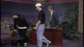 Donnie Wahlberg and Marky Mark on Jay Leno Loungin