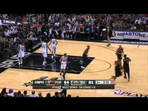 San Antonio Spurs vs Portland Trail Blazers - Game 2 Highlights - NBA Playoffs 2014