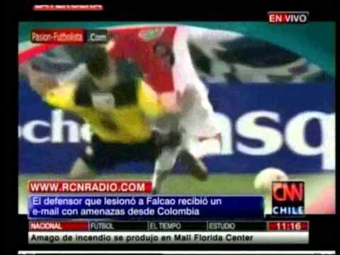 ✔ se confirmó lesión de falcao y el infractor recibió amenazas desde colombia