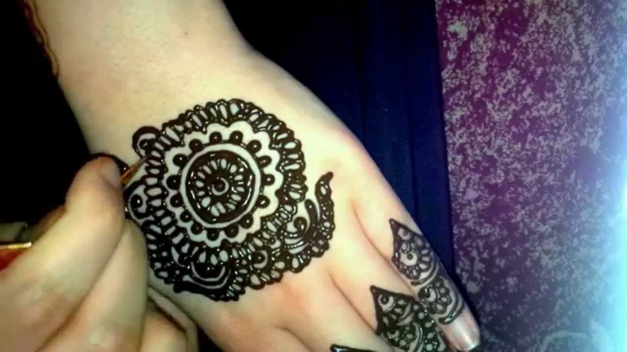 Simple Mehndi Tutorials : Simple bridal henna mehndi tutorial youtube