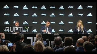 Live: Juventus presents Cristiano Ronaldo as new player
