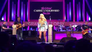 Download Lagu Carrie Underwood- Cry Pretty (2018 Fan Club Party) Gratis STAFABAND