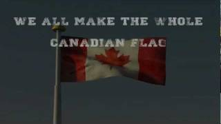 "3D Animation: ""We all make the Canadian Flag"""