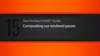 Compositing rendered passes in NUKE STUDIO tutorial