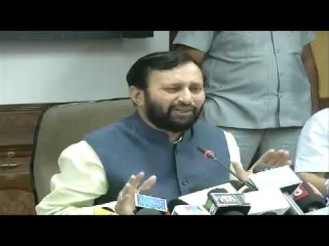 Shri Prakash Javadekar assume charges as Environment Minister