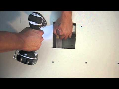 Drywall Tips & Tricks-How to patch a hole/door knob patch  The pro's way!!   drywall taping. mudding