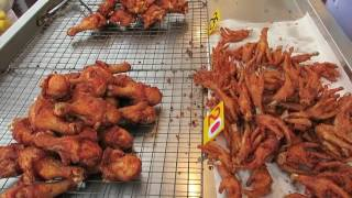 Deep Fried Chicken with Shallots Thai Style - Thailand Street Food