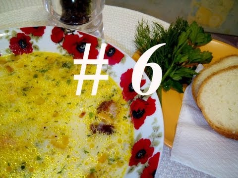 СЫРНЫЙ СУП С ОХОТНИЧЬИМИ КОЛБАСКАМИ \ Рецепт сырного супа \ Как приготовить сырный суп