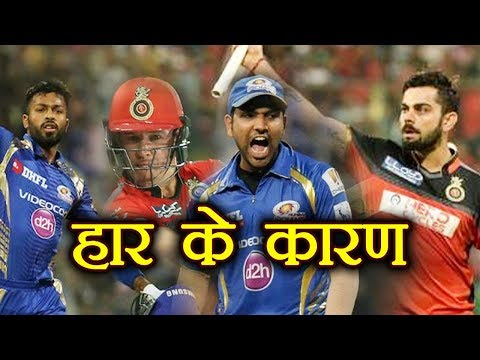 IPL 2018 MI Vs RCB : Top 5 Reason For Royal Challengers Bangalore's Defeat | वनइंडिया हिंदी
