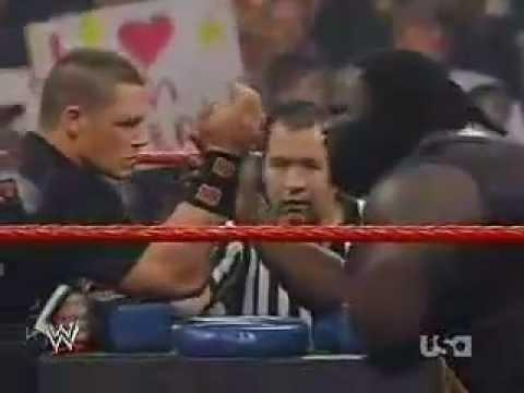 WWE Mark Henry vs John Cena Arm Wrestling 2008
