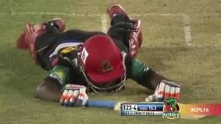 Faf Du Plessis shouting on Jonathan Carter : CPL T20