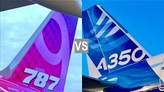A350 vs 787: Airbus A350 fights with Boeing 787 Dreamliner!