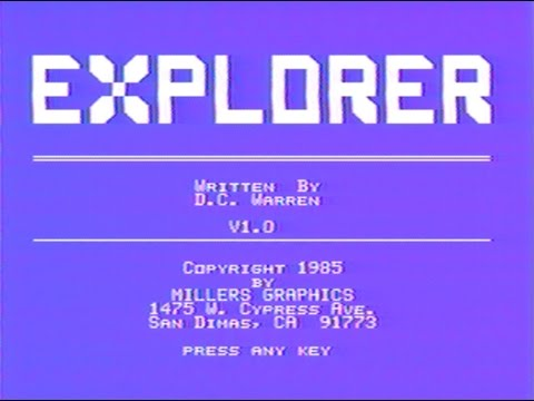 Review and Demonstration of: - Explorer - program for Texas Instruments TI-99/4A -