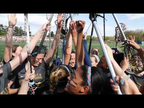 Catonsville post-game huddle Catonsville/Hereford girls lacrosse Baltimore County finals 5/2/15
