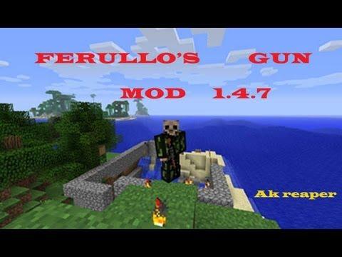 Minecraft mods review #2-Ferullo's gun mod 1.4.7 (Español)