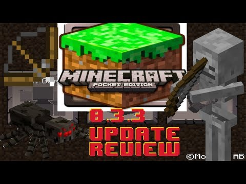 Minecraft Pocket Edition 0.3.3 Update Review iPhone/iPod/iPad/Android