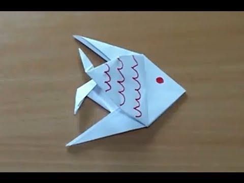 comment faire un poisson en origami poisson en papier youtube. Black Bedroom Furniture Sets. Home Design Ideas