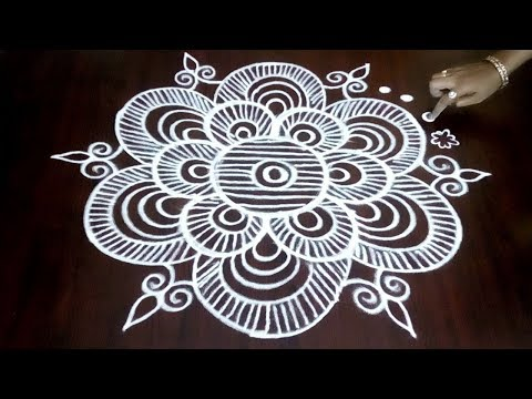 How To Draw Creative Rangoli With 3 x 2 Simple Dots  || Margazhi Design || Fashion World