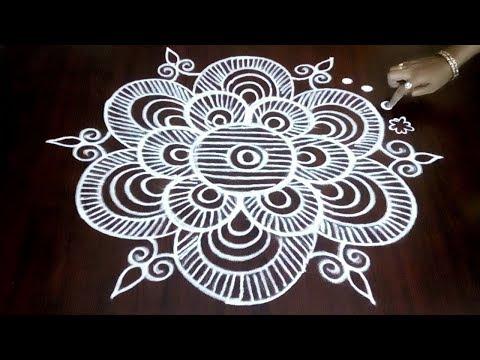 How To Draw Creative Rangoli With 3 x 2 Simple Dots  || Margazhi Design || Fashion World