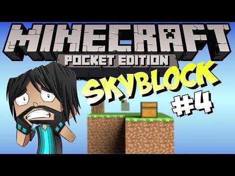 Minecraft PE Pocket Edition : Skyblock Part 4 Full Of Fail