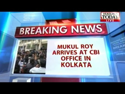 Saradha scam: Mukul Roy reaches CBI office for questioning