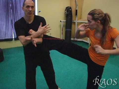 Kickboxing Training - Front Kick Defense and Counters Image 1