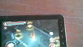 Playing HD GAME DUNGEON HUNTER IN MERCURY MTAB NEO