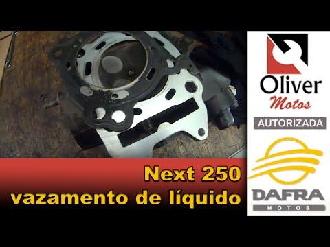 Next 250 com vazamento de água (líquido de arrefecimento), reparo na Oliver Motos