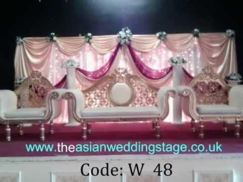 Asian wedding stages youtube for Asian wedding decoration hire
