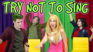TRY NOT TO SING ALONG DISNEY ZOMBIES. (Totally TV Dress Up Characters)