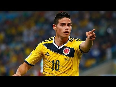 James Rodriguez Amazing goal ~ Colombia vs Uruguay 2-0 (World Cup 2014) HD