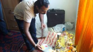 Tulu song Devotional  with Navarathri Pooja in Ravi Home in 2010.wmv