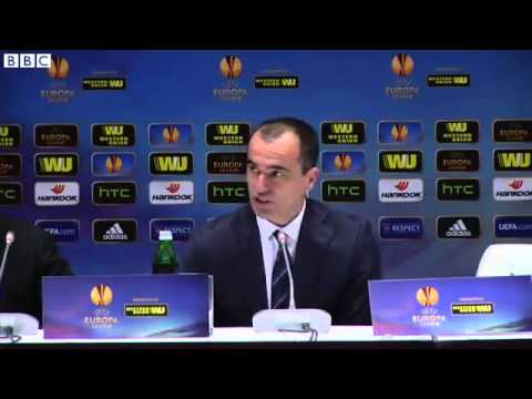 Roberto Martinez Post Match Interview - Dynamo Kiev 5-2 Everton  20 03 2015
