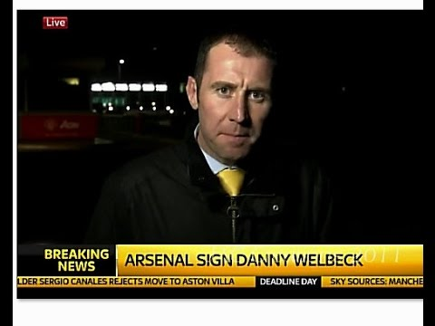 How it was announced, The signing of Danny Welbeck To Arsenal