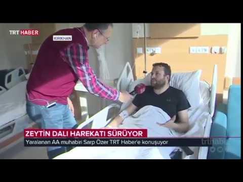 AA Muhabiri Sarp Özer Zeytin Dalı Harekatı'nı takip ederken yaralandı