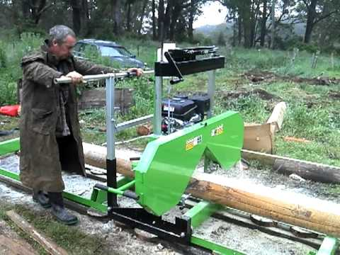 Bandsaw Mill For Sale >> woodlands bandsaw mill - YouTube