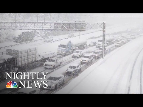 Monster Snowstorm Begins Working Its Way Up East Coast | NBC Nightly News
