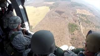 Paratroopers Jump From Uh 60 Blackhawk