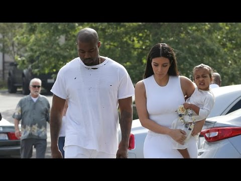 Kimye Take Adorable Nori To Church All Dressed In White On Easter Sunday