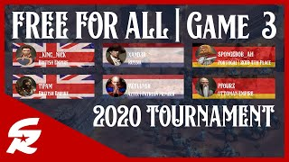 3 Way Fights!! All out War! | Game #3 - 2020 FFA Tourney | Age of Empires III