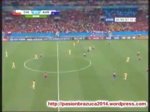 Chile 3 Australia 1 ADN Radio Chile 91.7- (Grupo B Mundial Brasil 2014) .
