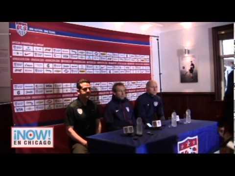 Press Conference with Jurgen Klinsmann and Brad Guzan at Fulham Stadium - USA vs Colombia