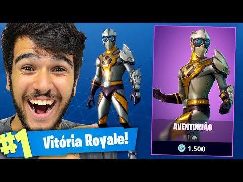AVENTURIÃO!! MATEI GERAL COM A NOVA SKIN DO FORTNITE!!