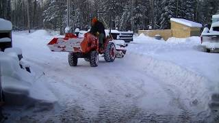 6 way international 3 point blade plowing snow with home made blade guard