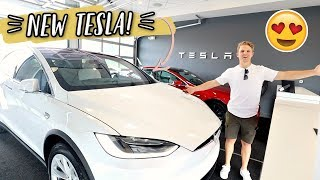 GETTING OUR NEW TESLA MODEL X!
