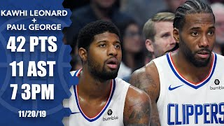 Kawhi Leonard & Paul George's 1st game together: OT win vs. Celtics | 2019-20 NBA Highlights